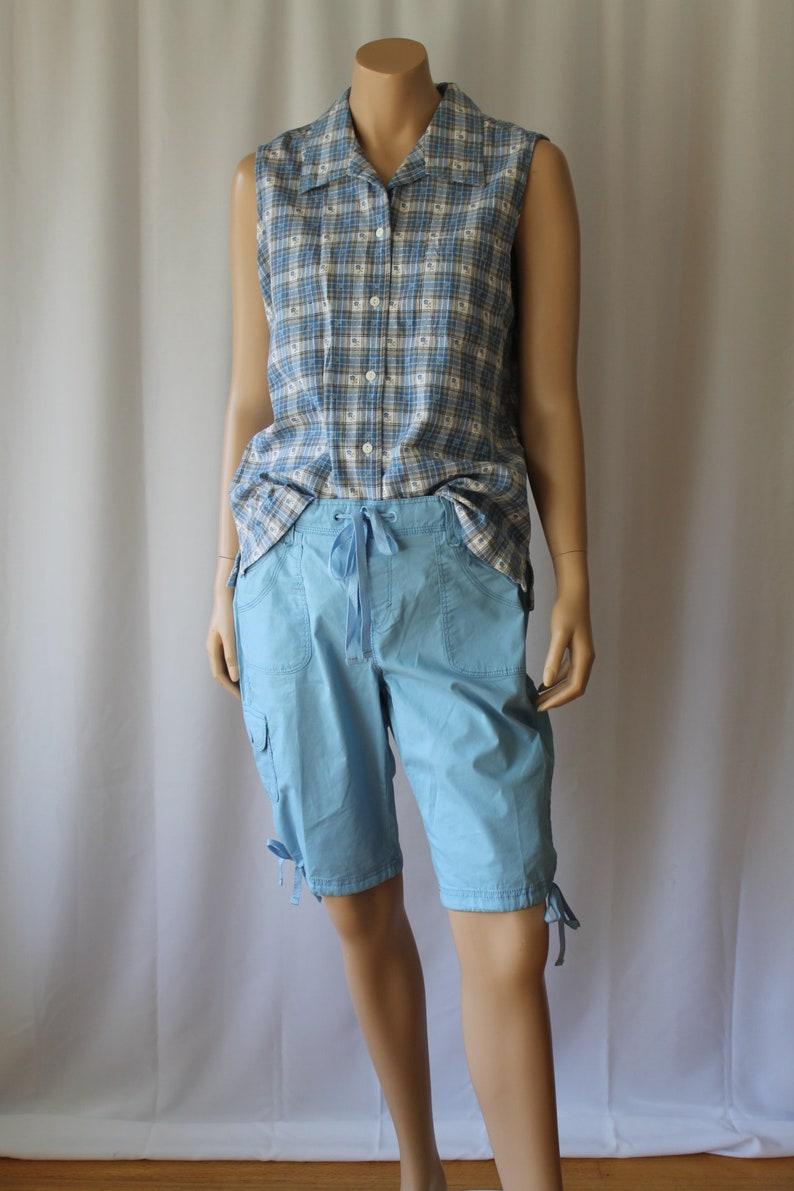 bf53663d28 Cotton Poplin Shorts Gloria Vanderbilt shorts Sky Blue | Etsy