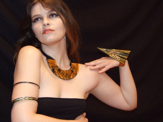 Egyptian Collar, Rocketship Cuff, Arm Band