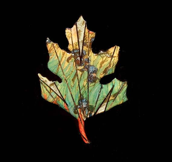 Van Gogh Art History Leaf Pin the Irises