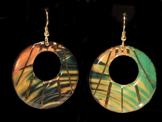 Large O-ring Earrings