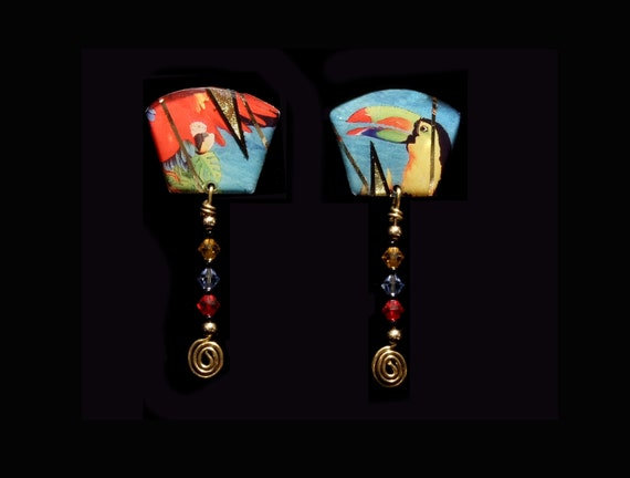 Parrot Jungle Beaded Earrings