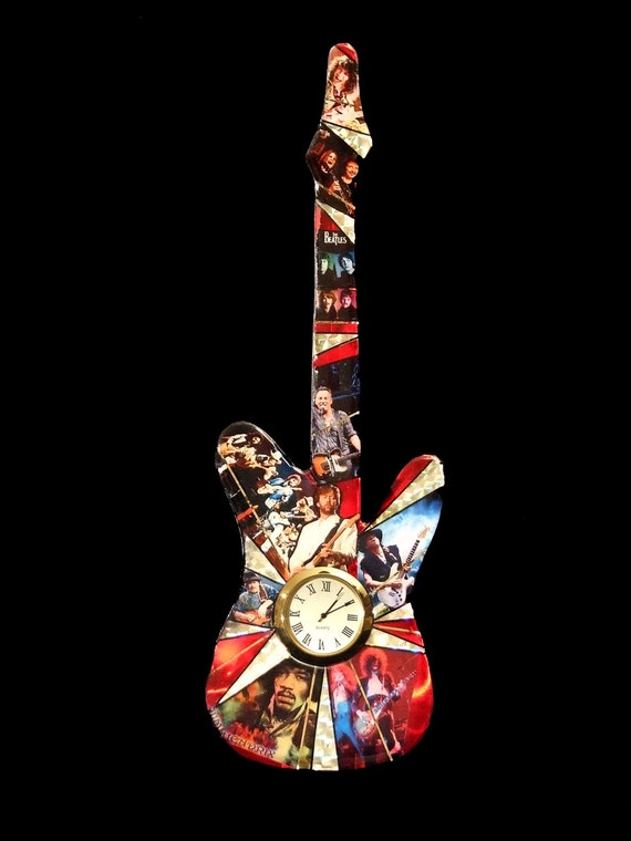 Guitar Heroes- Rock and Roll Guitar Clock