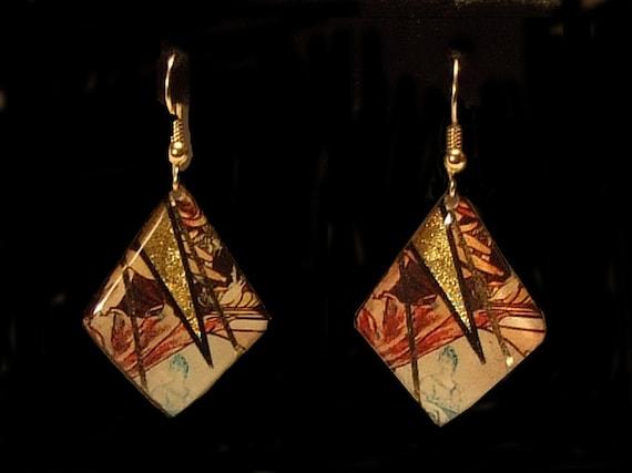Mucha Dangle Earrings