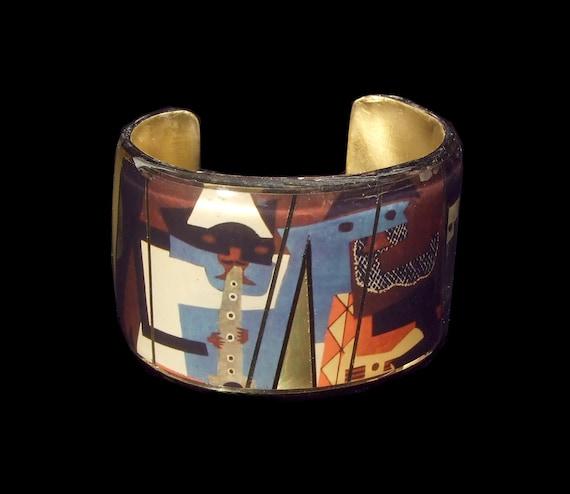 Three Musicians Picasso Cuff Bracelet