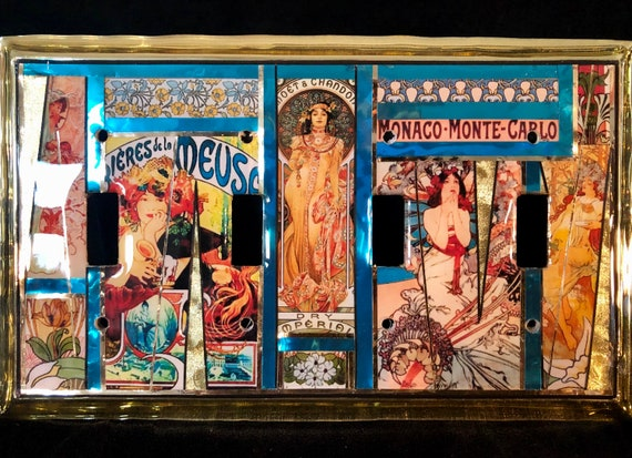 Art Nouveau switchplate from Paris Alphonse Mucha!