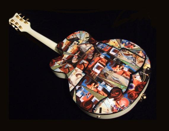 Kandinsky, Picasso, Dali Modern Art Guitar