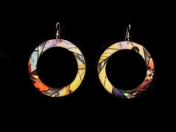 Kandinsky Hoop Earrings