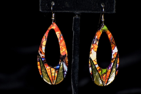 Art Nouveau Teardrop Earrings