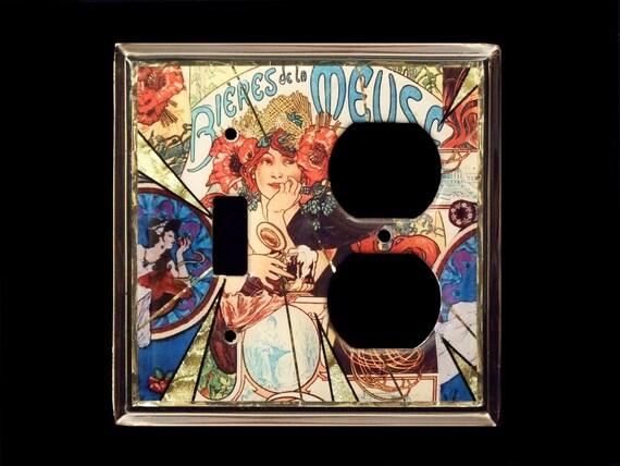 Alphonse muccha  art Nouveau switchplate