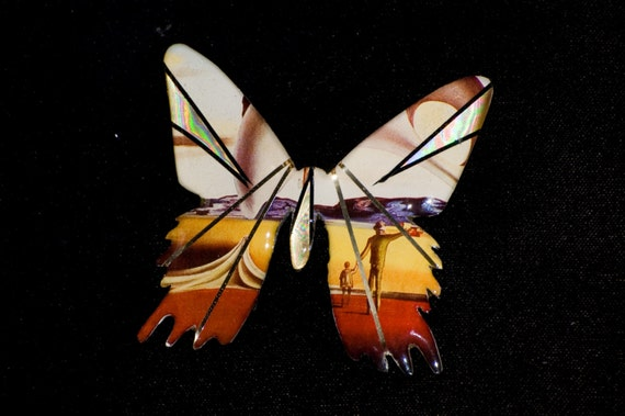 Metallic Art Graphics Butterfly Pin