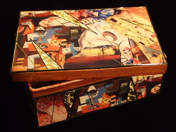 Art Deco Box with Kandinsky, Picasso, Klimt