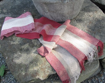 Etsy Pick Zen Om Prayer Scarf, Mindfulness Meditation Root Chakra Reiki Yoga Clothing Gift, Mens Womens Red Cotton Stole, Artisan Hand Woven