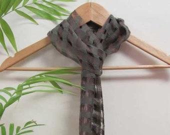 Etsy's Pick! Lightweight Mens Womens Handmade Artisan Hand Woven Cotton Scarf, Forest Green & Earth Brown, Spiritual Om Yoga Zen Meditation