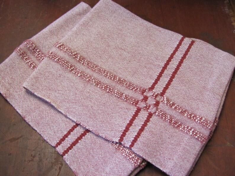 Artisan Hand Weaving Cotton Kitchen Towel Handweaving Pattern image 0