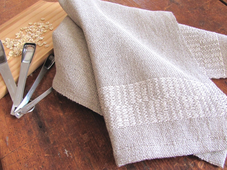 Linen Cotton Hemp Kitchen Hand Towel Modern Farmhouse Rustic image 0