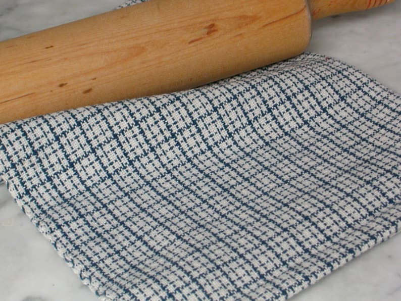 Artisan Hand Woven Cotton Kitchen Dish Tea Towels Weaving image 0