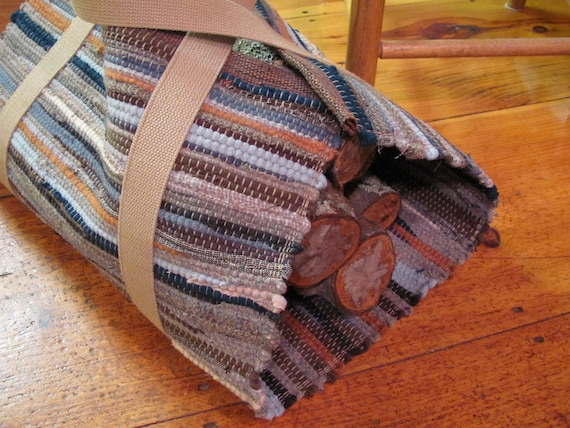 Wood Stove Fireplace Tools Firewood Carrier Log Bag Rustic