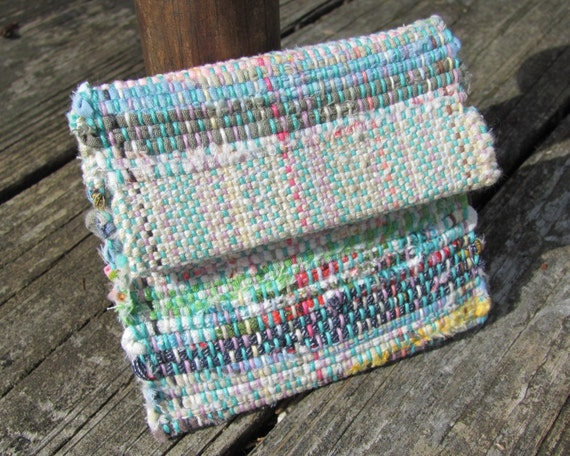 Rainbow Change Pouch Money Key Pouch ID Tea Bag Wallet Coin Purse, Vegan Eco Recycled Fabric Jewelry Bag, Small Clutch Hand Bag, Gift Idea