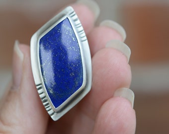 Starry Night ... Ring.. size 7  ..... sterling silver  contemporary METALSMITH Artisan jewelry by Mikelene