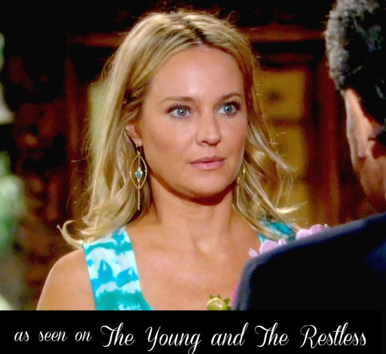 Long Gold Earrings As Seen On TV The Young and The Restless image 0