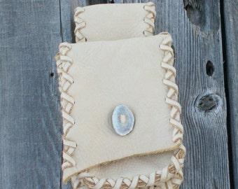 Leather belt bag , Leather hip bag , Leather phone bag