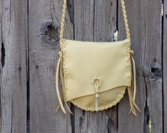 Soft leather crossbody bag , Small leather purse , Crossbody handbag
