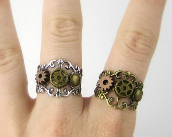 Steampunk Ring - Steampunk Jewelry - Post Apocalyptic - Wasteland