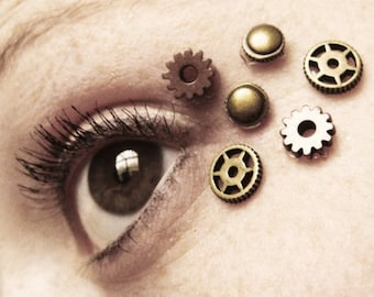 Steampunk Eye Decals - Steampunk Clothing - Steampunk Mask