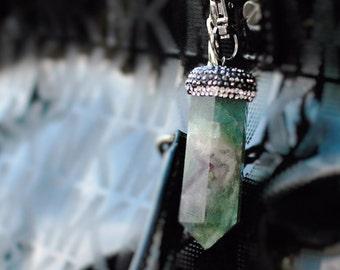 Womens Bag Charm Clip - Healing Crystal Keychain - Womens Handbag Charm -Rainbow Fluorite Gift Her Under 20 - Trending 2017 Women Boho Style