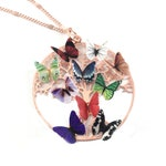 Family Tree Necklace Birthstone Necklace For Mom Gift For Wife Grandma Necklace Mothers Day Gift Rose Gold Butterfly Jewelry Personalized