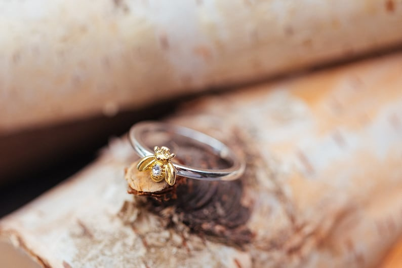 Honey Bee Ring  Save the Bees  Insect Ring  Honey Bee image 0