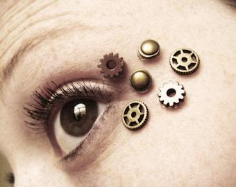 6pcs Eye Decals Womens Steampunk Clothing Steampunk Accessories Steampunk Mask Clock Part Gears