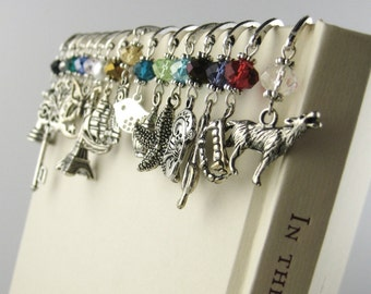 Personalized Bookmark - Unique Bookmark - Metal Bookmark - Charm Bookmark - Book Lover Stocking Stuffer Coworker Gift For Her Him