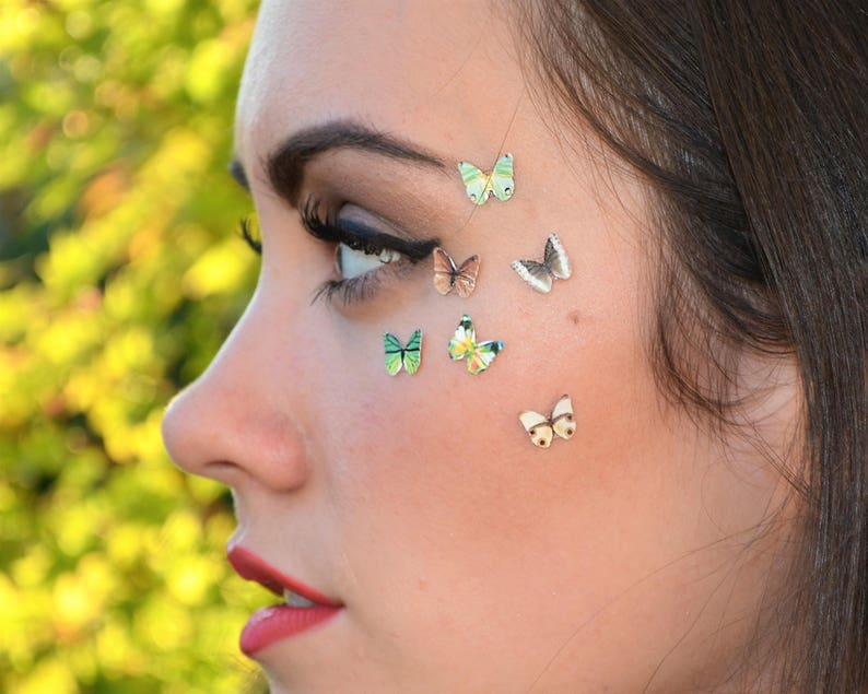 3pcs Butterfly Eye Makeup Stickers Beauty Product Accessory image 0