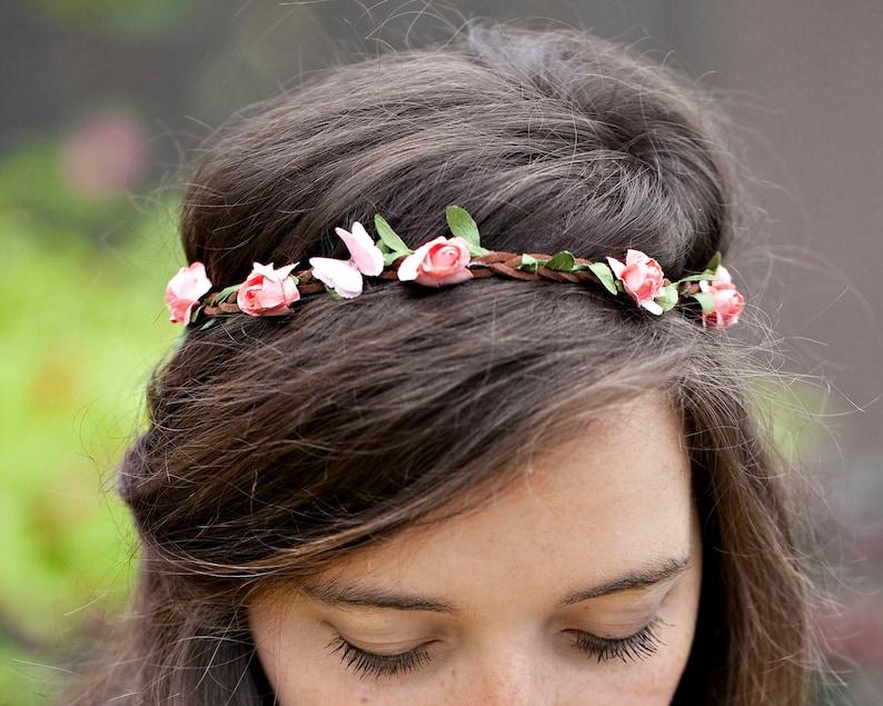 Boho Headband  Flower Crown Headband  Adult Headband Woman  image 0