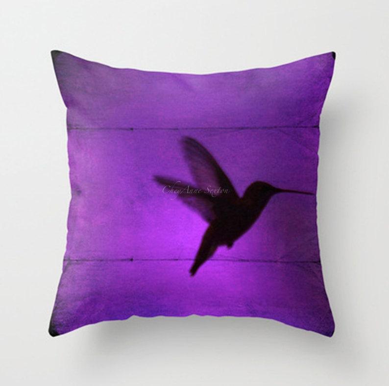 Hummingbird PILLOW 16 18 20 square Jewel image 0