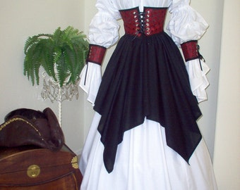 Pirate Renaissance Cincher And Skirt Set Costume That Can Be Made Any Size