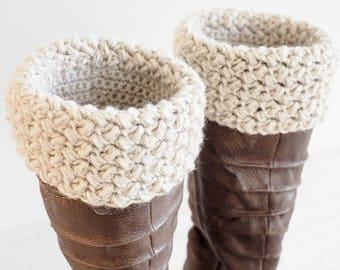 Easy Boot Cuff Crochet Pattern     Crochet Boot Cuffs    DIY Boot Cuff Crochet Pattern   Boot Topper Pattern   Boot Sock Crochet Pattern