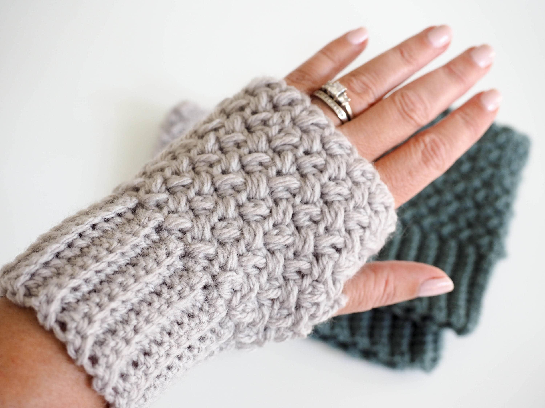 Crochet Pattern Fingerless Gloves Crochet Pattern Etsy
