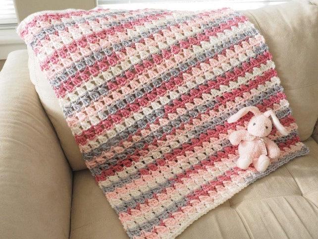 Easy Baby Blanket Crochet Pattern Baby Afghan Crochet Etsy