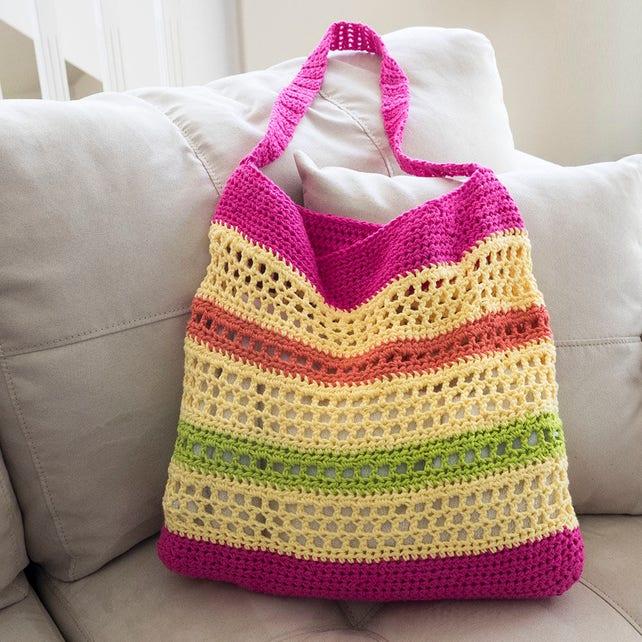 Easy Crochet Bag Pattern Crochet Tote Pattern Everyday Bag Etsy