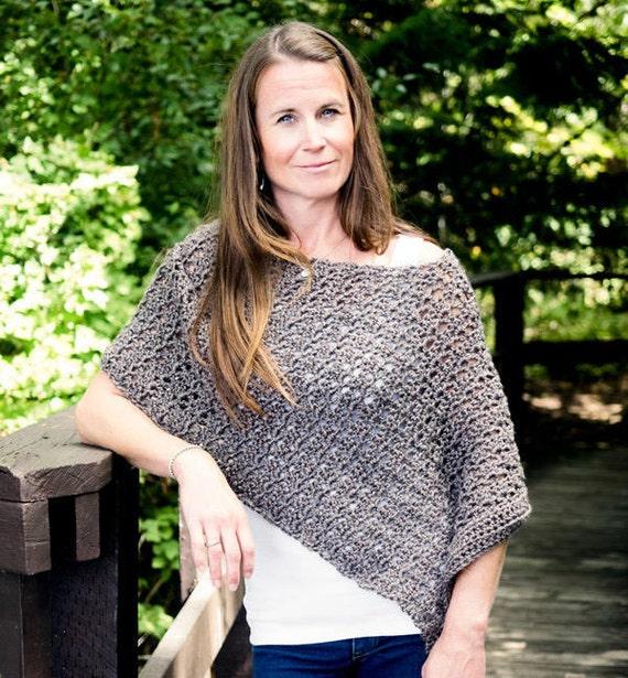 Easy Crochet Poncho Pattern Asymmetrical Poncho Crochet Etsy