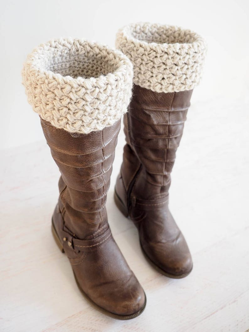 Easy Boot Cuff Crochet Pattern Crochet Boot Cuffs Diy Etsy