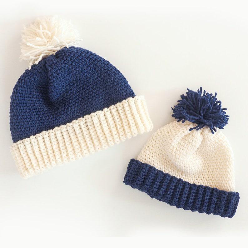 Crochet Hat Pattern Family Beanie Hats Crochet Pattern Etsy