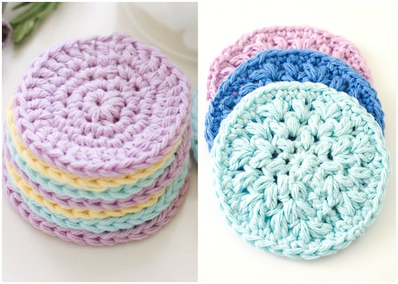 Reusable Face Scrubbie Crochet Pattern Cotton Makeup Etsy