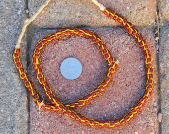 African Striped Glass Beads