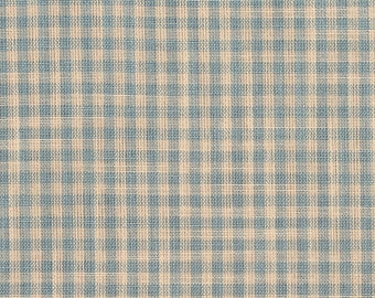 Check Fabric Tartan Vintage French Cotton Fabric 115 x 335 cm or 45 x 131 Inches Traditional Country Fabric France
