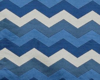 55 Wide Purple Gray Chartreuse Lime Green Aqua Blue Charcoal Zig Zag Geometric Mid Century Modern Velvet Chenille Upholstery Fabric  ILV9