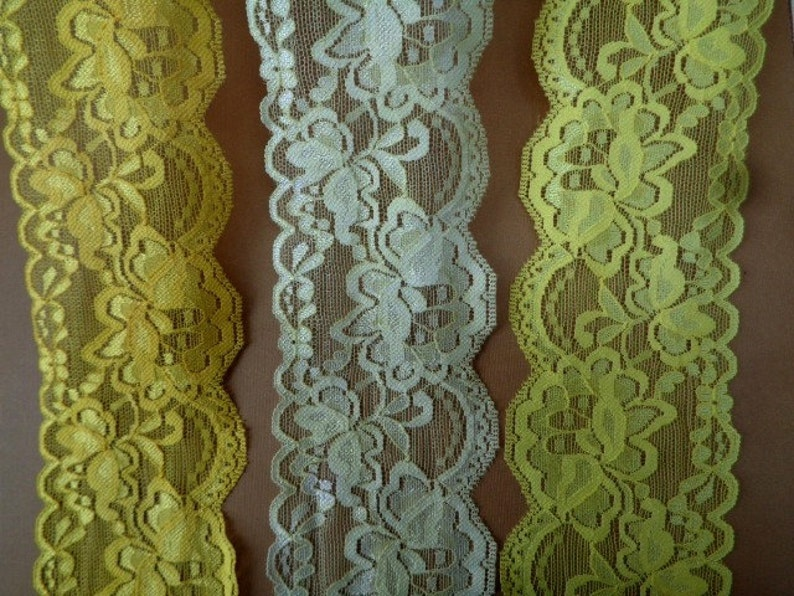 Weddings Craft Lingerie Choice of length Quality White Stretch Lace trim