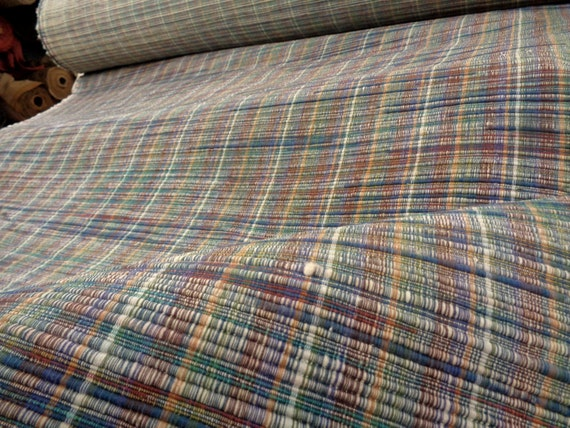 56 Wide Cotton Stripe Upholstery Fabric Home Decorator Etsy
